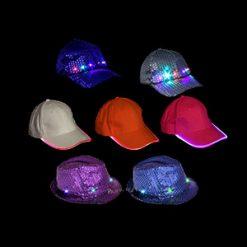 Sombreros gorras y pelucas luminosas